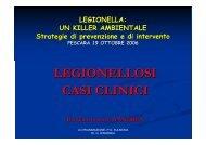 LEGIONELLOSI CASI CLINICI - ARTA Abruzzo