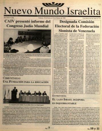 Page 1 ÜAIV presentó informe del Congreso Judío Mundial Caracas ...