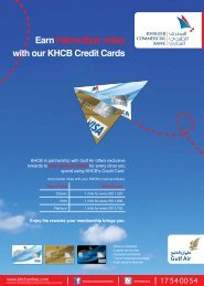 Earn Falconflyer miles - Khaleeji Commercial Bank BSC