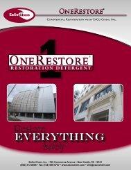OneRestore - EaCo Chem Inc.