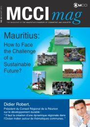 Mauritius: - The Mauritius Chamber of Commerce and Industry