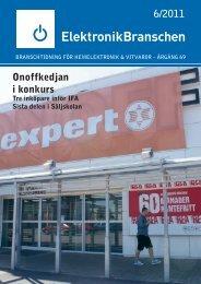 6/2011 Onoffkedjan i konkurs - Elektronikbranschen