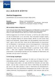 ALLG Ä UERK Ö PFE - FUCHS PR & CONSULTING in Kempten im ...