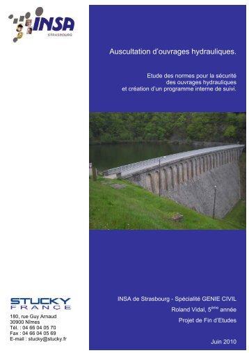 Auscultation d'ouvrages hydrauliques. - Eprints2.insa-strasbourg.fr