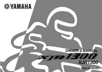 owner's manual - Yamaha XJR