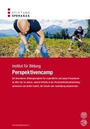 Perspektivencamp - Stiftung Speranza