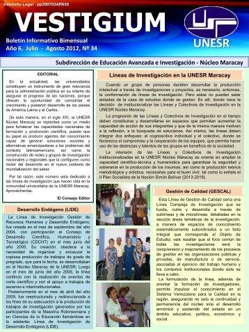Agosto2012, Nº 34 - Decanato de Educación Avanzada