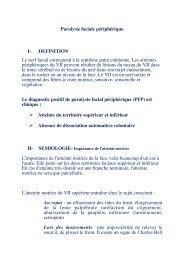 Paralysie faciale périphérique I- DEFINITION Le nerf facial ...