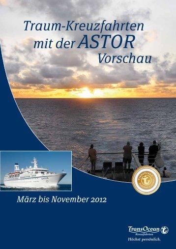 Traum-Kreuzfahrten mit der ASTOR Vorschau
