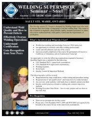 SAULT STE. MARIE, ONTARIO - CWB Group
