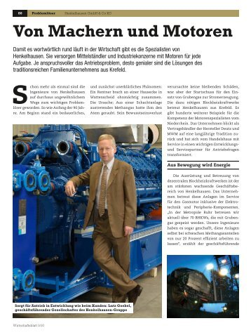 Von Machern und Motoren - Henkelhausen GmbH & Co. KG