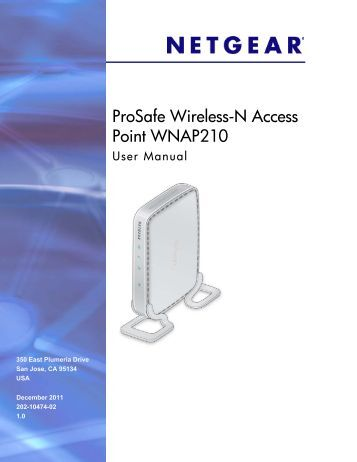 ProSafe Wireless-N Access Point WNAP210 User Manual - netgear