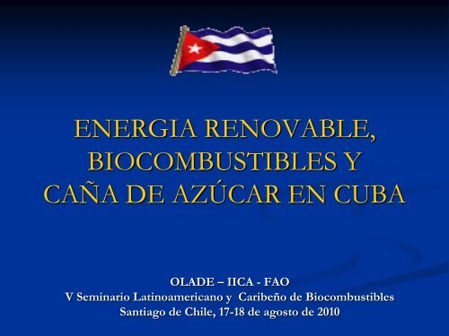 BIOCOMBUSTIBLES, CUBA