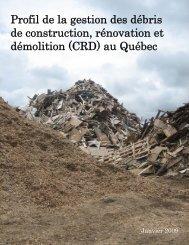 Profil de la gestion des débris de construction, rénovation et ...