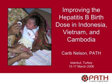 Improving the hepatitis B birth dose in Indonesia, Vietnam, and ...