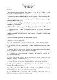 Környezettudomány MSc Záróvizsga tételek Általános: 1 ...