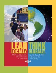 At the CASB 66th Annual Convention you will - Colorado ...