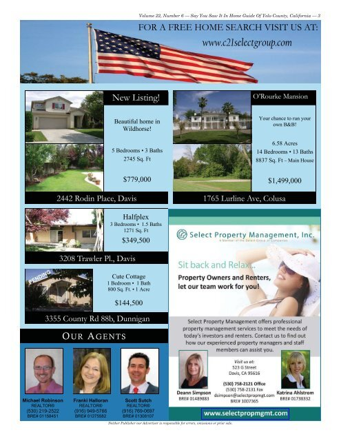 (530) 662-2121 - Home Guide of Yolo County, CA