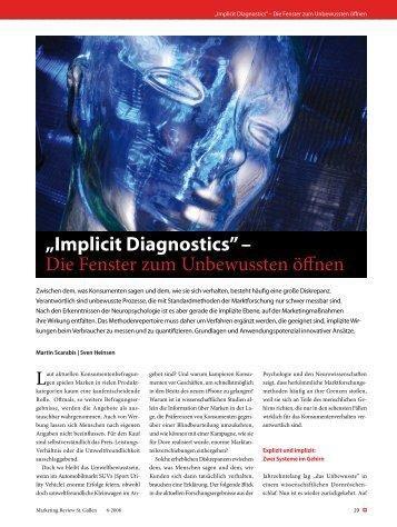 """""""Implicit Diagnostics"""" – Die Fenster zum Unbewussten öffnen"""
