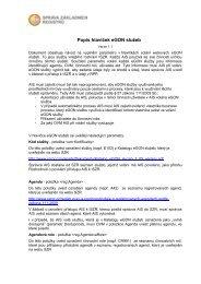 Popis hlaviček eGON služeb, v. 1.1 - Správa základních registrů