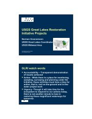 USGS Great Lakes Restoration Initiative Projects - SAME Detroit Post