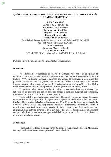 QUÍMICA NO ENSINO FUNDAMENTAL ... - Axpfep1.if.usp.br