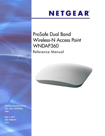 ProSafe Dual Band Wireless-N Access Point WNDAP360 ... - netgear