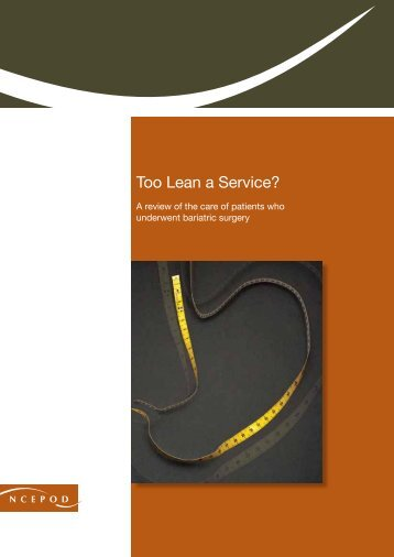 Too Lean a Service? - National Confidential Enquiry into Patient ...