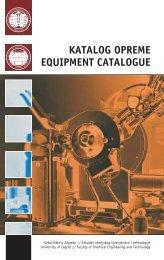 Katalog opreme - Fakultet kemijskog inženjerstva i tehnologije