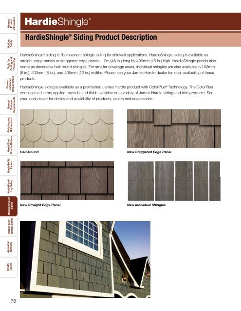 Hardieshinglea Siding Product Description James Hardie