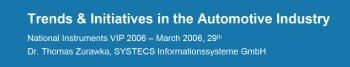 Trends & Initiatives in the Automotive Industry - SYSTECS ...