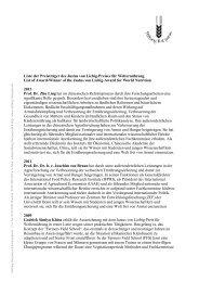 Liste der Preisträger des Justus von Liebig ... - Stiftung Fiat Panis