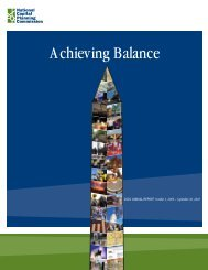 2010: Achieving Balance - National Capital Planning Commission