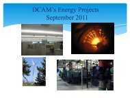 DCAM's Energy Projects September 2011