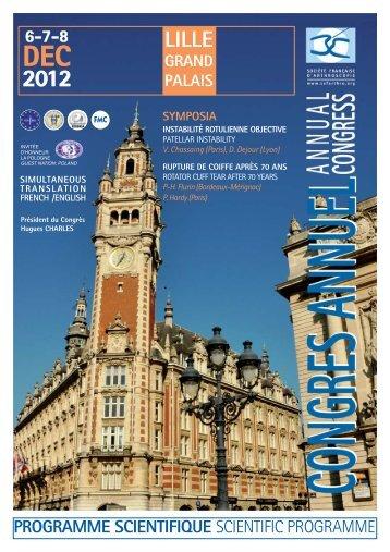 Programme 2012 - Société française d'arthroscopie