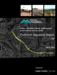 Williams Gateway Freeway Preferred Alignment Report Final