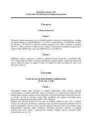 Doplňující směrnice k DS - Fakulta strojního inženýrství