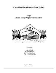 Draft Initial Study/Negative Declaration - the City of Lodi