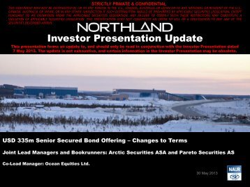 Investor Presentation May 29, 2013 - Northland Resources