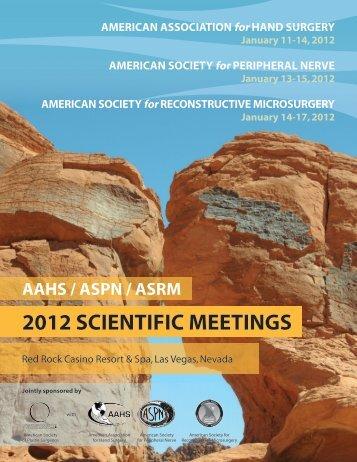 2012 scientific meetings - AAHS - 2014 Annual Meeting - American ...
