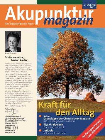 Akupunkturmagazin 4. Quartal 2011 - Traditionelle Chinesische ...