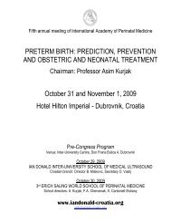 OCTOBER 29, 2009 - World Association of Perinatal Medicine