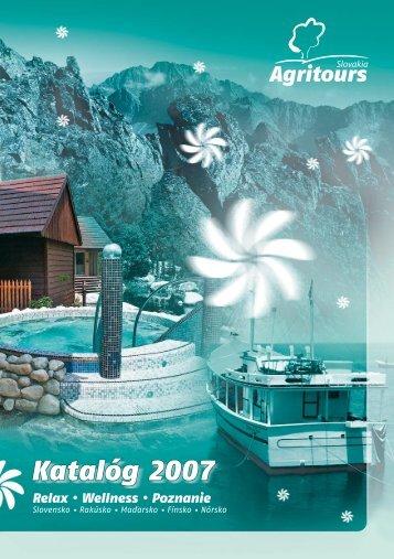 Katalóg 2007 - AGRITOURS Slovakia