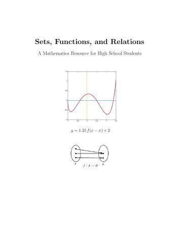 Sets, Functions, and Relations - Xaravve
