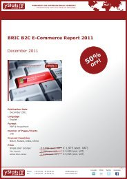 BRIC B2C E-Commerce Report 2011 - yStats.com