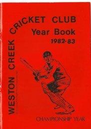 LU - Weston Creek Cricket Club