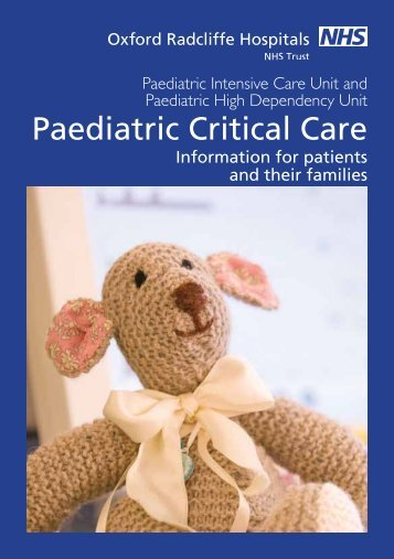 Paediatric Critical Care - Oxford University Hospitals NHS Trust