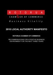 2010 local authority manifesto - Rotorua Chamber of Commerce