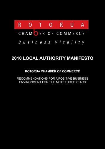 2010 local authority manifesto - Rotorua Chamber of Commerce