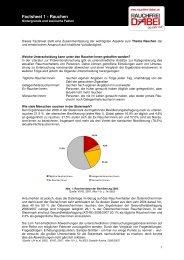 Factsheet 1 - Rauchen - RAUCHFREI DABEI